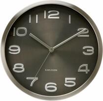 Nástenné hodiny 4461 Karlsson, čierna