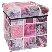 Sienna tároló doboz rózsaszín, 30 x 30 x 30 cm