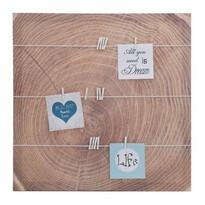Tablica z klamerkami motyw słoje drzewa 45 x 45 cm