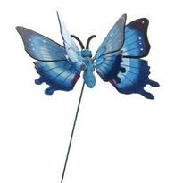 Dekorace Motýlek modrá, 15 cm