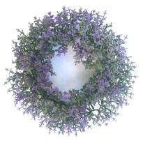 Coroniță artificială Buxus violet, diametru 16 cm