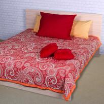 Sal ágytakaró piros/fehér, 220 x 240 cm