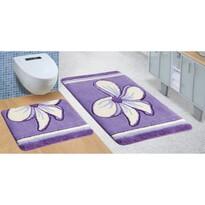 Komplet dywaników łazienkowych Ultra Kwiat fioletowy, 60 x 100 cm, 60 x 50 cm