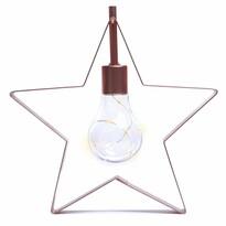 DecoKing Lampa świąteczna Gwiazda ciepła biała, 5 LED