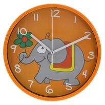 Zegar ścienny Elephant pomarańczowy, 23 cm