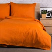 Pościel bawełniana Guru UNI pomarańczowy, 140 x 200 cm, 70 x 90 cm