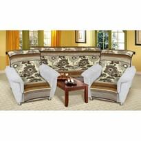 Narzuty na kanapę i fotele Karmela Plus Kwiat, 150 x 200 cm, 2 szt. 65 x 150 cm