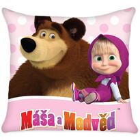Poduszka Masza i niedźwiedź, 40 x 40 cm