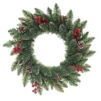 Coroniţă de Crăciun Levante, verde, diam. 50 cm