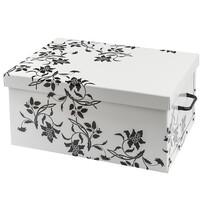 Úložný box Ornament 51 x 37 x 24 cm, biela