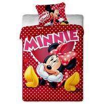 Dětské bavlněné povlečení Minnie hearts 2015, 140 x 200 cm, 70 x 90 cm