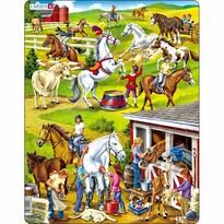 Larsen Puzzle Konie, 50 części