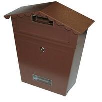 Schránka poštová strieška hnedá