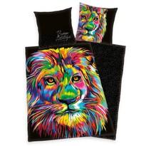 Saténové obliečky Bureau Artistique - Colored Lion, 140 x 200 cm, 70 x 90 cm