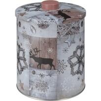 Okrągły pojemnik blaszany Wintertime, śr. 14 cm
