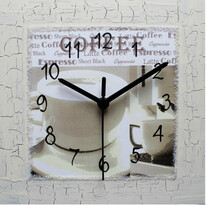 Nástenné hodiny Cafe latte