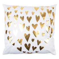 Polštářek Gold De Lux Srdce bílá, 43 x 43 cm