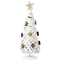 Prútený vianočný stromček biela