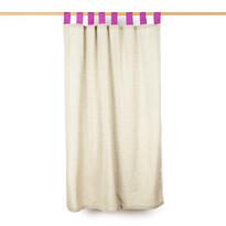 Závěs režný růžová, 140 x 160 cm