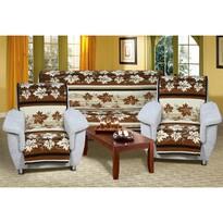 Prehozy na sedacia súprava Karmela Plus Hnedé listy, 150 x 200 cm, 2 ks 65 x 150 cm