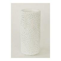 Betonová váza Flower bílá, 20 cm