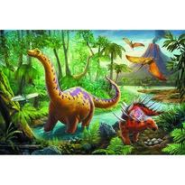 Trefl Puzzle Dinosaury na cestách, 60 dielikov