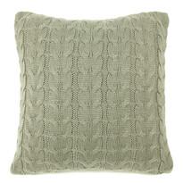 Obliečka na vankúšik pletená Uno sivá, 45 x 45 cm