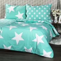 Bavlněné povlečení New Stars mint, 140 x 200 cm, 70 x 90 cm
