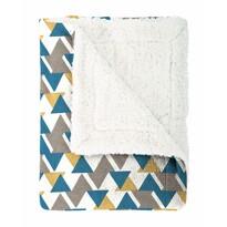 Pătură imitaţie lână Mistral Home Triangle, albastru, 130 x 170 cm