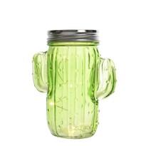 LED dekorace Kaktus světle zelená, 14,5 cm