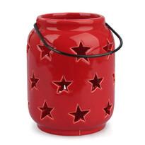 Świecznik ceramiczny do powieszenia Gwiazdki czerwony