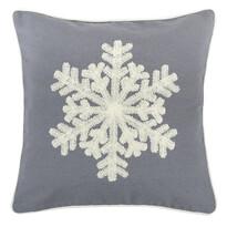 Poszewka na poduszkę Snowflake szary, 40 x 40 cm