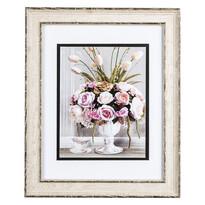 Tablou buchet de flori şi cană, cu decor Rose