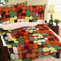 Pościel z mikroflaneli Kamienie kolorowy, 140 x 200 cm, 70 x 90 cm