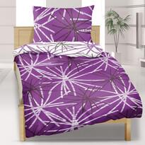 Bavlnené obliečky Hvězda fialová, 140 x 200 cm, 70 x 90 cm
