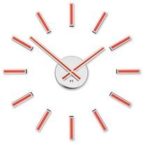Future Time  FT9400RD Modular red Designové samolepicí hodiny, pr. 40 cm