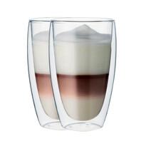 """Maxxo """" Cafe Latte"""" 2-częściowy zestaw szklanek termo, 380 ml"""