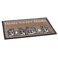 Vnútorná rohožka Home sweet home brown, 50 x 75 cm