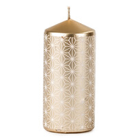 Vánoční svíčka 6,5 x 14 cm, měděná