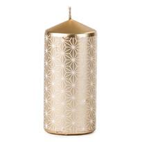 Vianočná sviečka 6,5 x 14 cm, medená