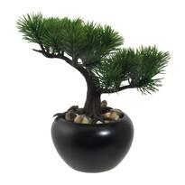 Sztuczne bonsai Sosna w doniczce zielony, 19 cm