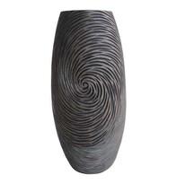 Váza v přírodních tmavých barvách 35 cm