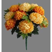 Sztuczna wiązanka Chryzantema, pomarańczowy