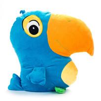 Vankúšik Papagáj modrý, 38 x 36 cm