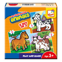 Bino Prvé puzzle Zvieratká