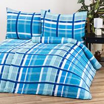 Krepové obliečky Pallas Kostka modrá, 140 x 200 cm, 70 x 90 cm