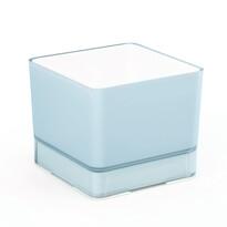 Doniczka osłonka plastikowa Cube 120, niebieska
