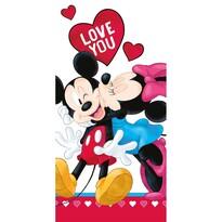 Osuška Mickey and Minnie Love you, 70 x 140 cm
