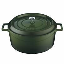 Lava Litinový hrnec kulatý 28 cm, zelená 6,7 l