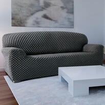 Pokrowiec multielastyczny na kanapę Contra szary, 180 - 220 cm